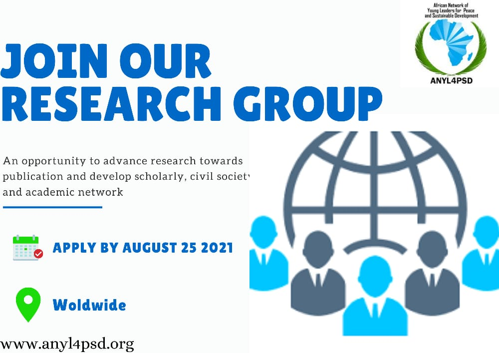 WORLDWIDE CALL FOR APPLICATIONS, 2021 New Deal for Nature and People Research Group Submission